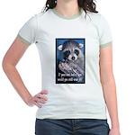 Raccoon Coat Jr. Ringer T-Shirt