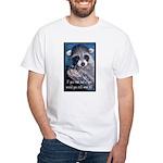 Raccoon Coat White T-Shirt
