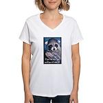 Raccoon Coat Women's V-Neck T-Shirt