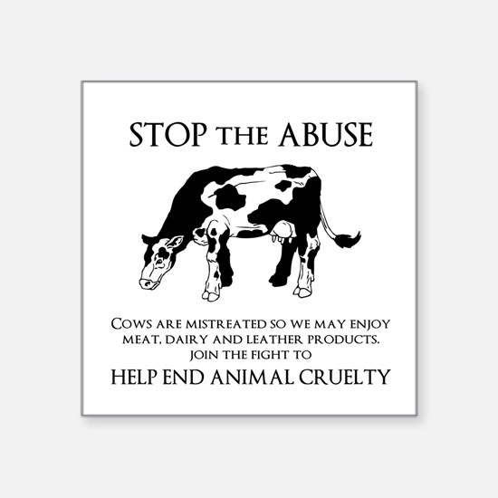 Cow Abuse Sticker