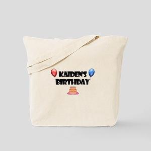 Kaiden's Birthday Tote Bag