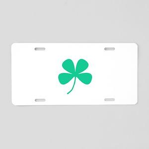 Green Irish Pride Shamrock Aluminum License Plate