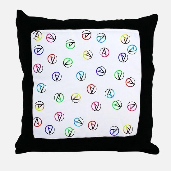 Atheists Everywhere Throw Pillow