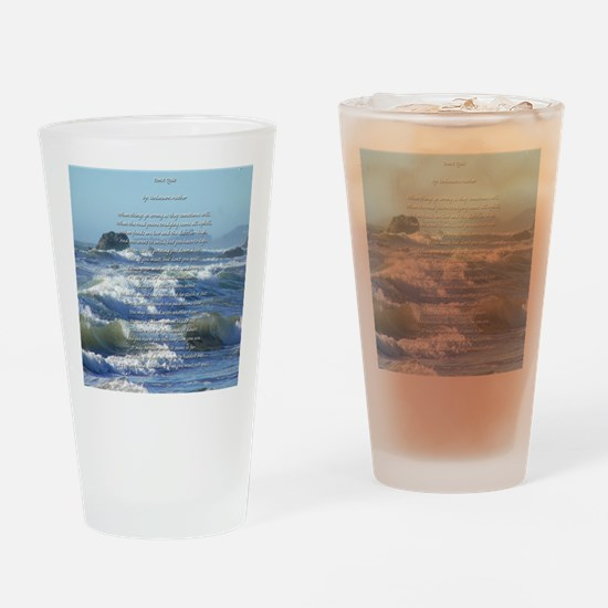 Don't Quit Drinking Glass