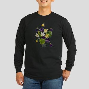 VIOLETS Long Sleeve Dark T-Shirt