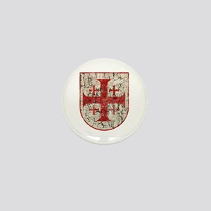 Jerusalem Cross, Distressed Mini Button