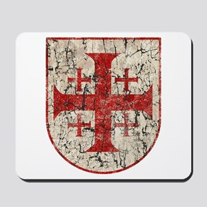 Jerusalem Cross, Distressed Mousepad