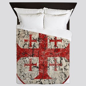 Jerusalem Cross, Distressed Queen Duvet