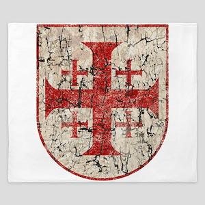 Jerusalem Cross, Distressed King Duvet