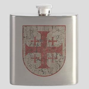 Jerusalem Cross, Distressed Flask