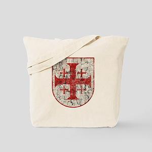 Jerusalem Cross, Distressed Tote Bag