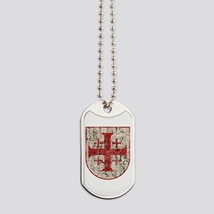 Jerusalem Cross, Distressed Dog Tags