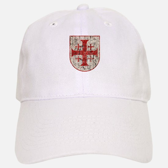 Jerusalem Cross, Distressed Baseball Baseball Cap