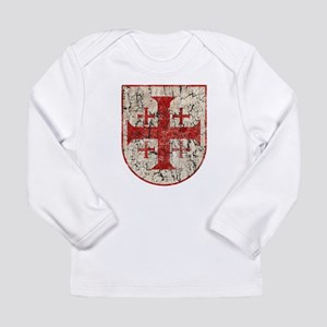 Jerusalem Cross, Distre Long Sleeve Infant T-Shirt