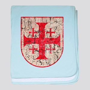 Jerusalem Cross, Distressed baby blanket