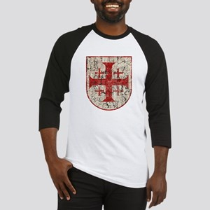 Jerusalem Cross, Distressed Baseball Jersey
