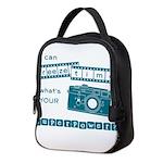superpower blue2 Neoprene Lunch Bag