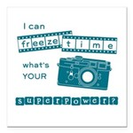 superpower blue2 Square Car Magnet 3