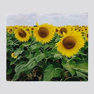 Sunflowers in Texas Throw Blanket