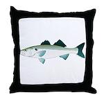European Seabass Bass Throw Pillow