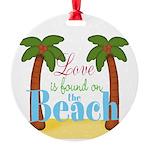 Beach Love Ornament