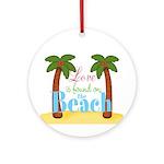 Beach Love Ornament (Round)