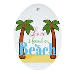 Beach Love Ornament (Oval)