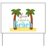 Beach Love Yard Sign