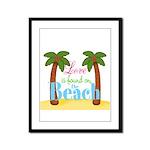 Beach Love Framed Panel Print
