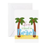 Beach Love Greeting Cards
