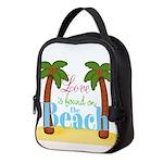 Beach Love Neoprene Lunch Bag