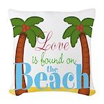 Beach Love Woven Throw Pillow