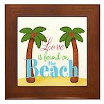 Beach Love Framed Tile