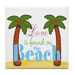Beach Love Tile Coaster