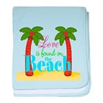 Beach Love baby blanket