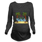 Beach Love Long Sleeve Maternity T-Shirt