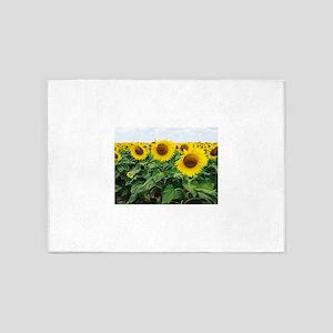 Sunflowers in Texas 5'x7'Area Rug