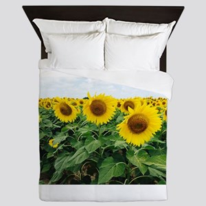 Sunflowers in Texas Queen Duvet