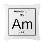 95. Americium Woven Throw Pillow