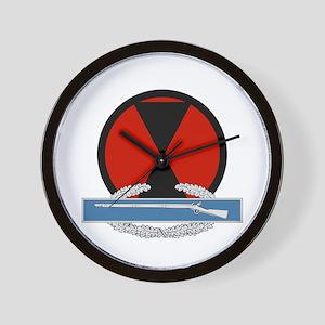 7th Infantry CIB Wall Clock
