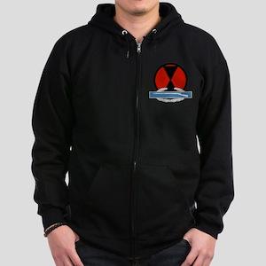 7th Infantry CIB Zip Hoodie (dark)