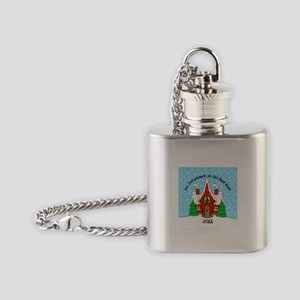 1st Xmas in our new home Flask Necklace