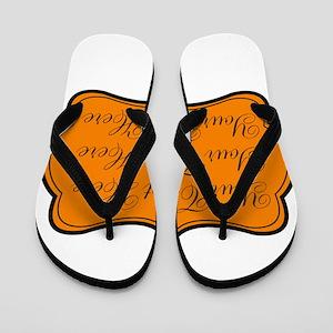 Orange and Black Flip Flops