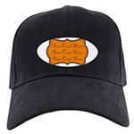 Orange and Black Baseball Hat