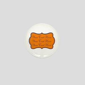 Orange and Black Mini Button