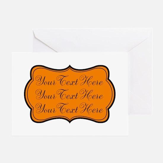 Orange and Black Greeting Cards