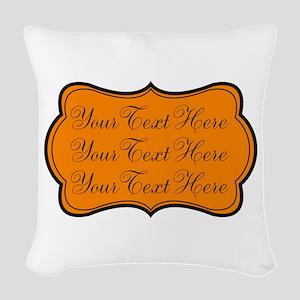 Orange and Black Woven Throw Pillow