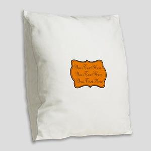 Orange and Black Burlap Throw Pillow
