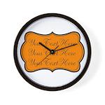 Orange and Black Wall Clock