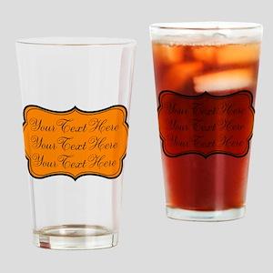 Orange and Black Drinking Glass